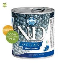 N&D Dog Ocean Adult консервы для взрослых собак всех пород, Сельдь и креветки, 285 гр.