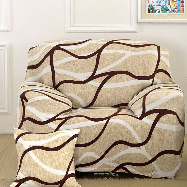 Uxcell Piccocasa Household Polyester Geometric Pattern Elastic Sofa