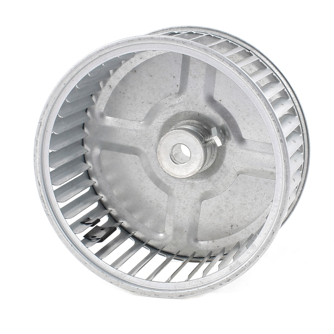 UXCELL 175Mm Diameter Centrifugal Wheel Round Fan Impeller Silver Tone qaulity aluminum vacuum cleaner motor fan blade 112mm 8mm hole wind wheel impeller