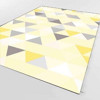 Else Yellow Floor Gray White Triangle Geometric 3d Print Non Slip Microfiber Living Room Decorative Modern Washable Area Rug Mat