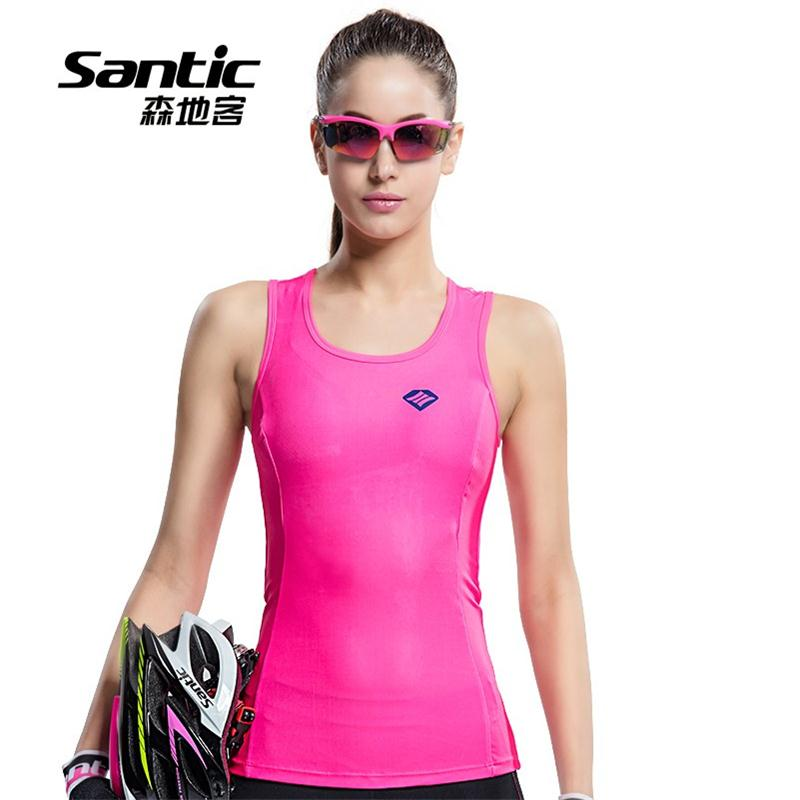Santic Cycling Jersey Sleeveless Downhill Chaleco-Ciclismo Summer Women Breathable
