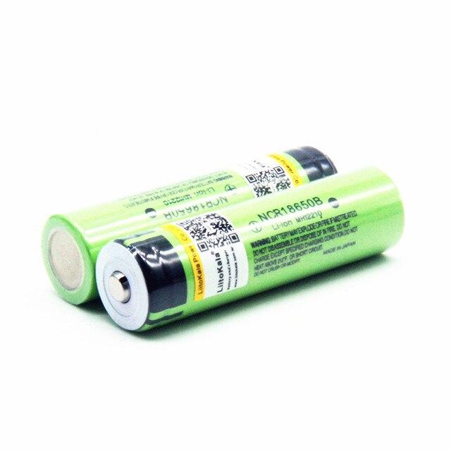 Hot liitokala 100% New Original NCR18650B 3.7 v 3400 mah 18650 Lithium Rechargeable Battery For Flashlight batteries (NO PCB) 3