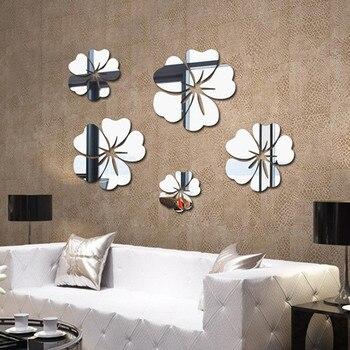 Flower Crystal Acrylic Mirror Decorative Sticker 3D DIY Wall Sticker Wall Decal Home Decol Home Decoration Bathroom Shower Room 8