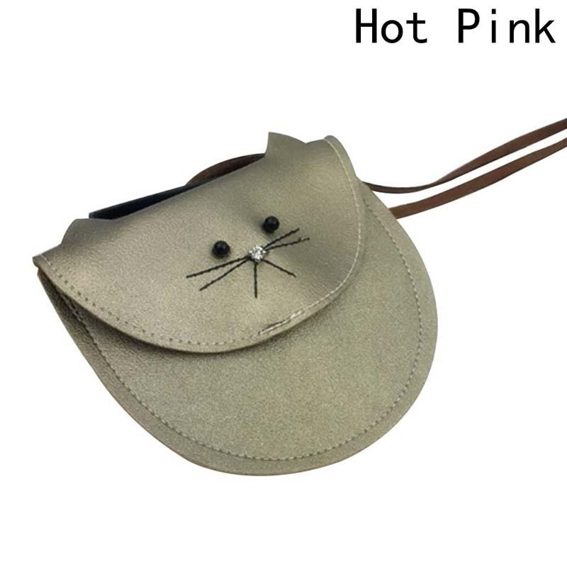 Hottest Small Cat Messenger Bag For Kids Baby Girls Cute Cat Coin Purse Mini Shoulder Bag Children Small Bag Purses & Wallets