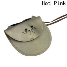 Najgorętsze Small Cat Messenger Bag dla dzieci Baby Girls Cute Cat Coin torebka mini torba na ramię dzieci Mała torba tanie tanio discountHEH Masz Dziewczyny Casual Patchwork Bez zamków błyskawicznych Placu 15 cali w 11 cm 9UM3I29256 Torebki na monety