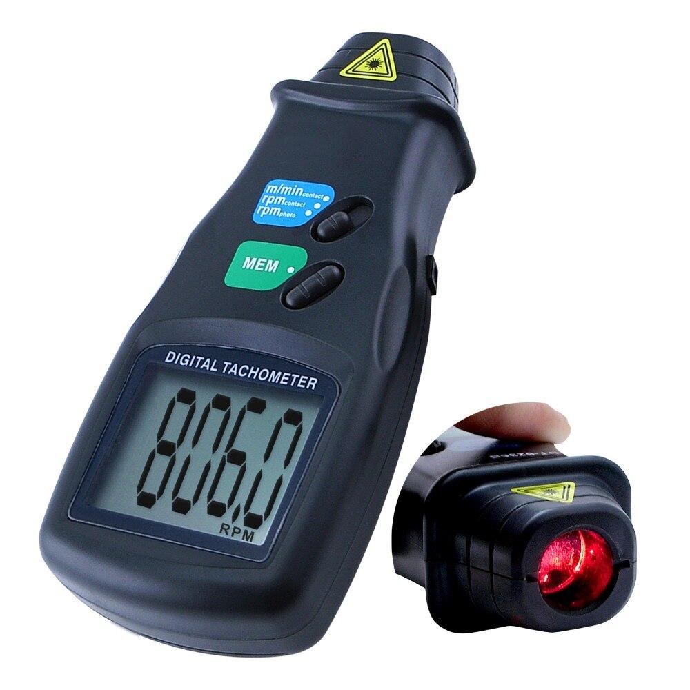 Numérique 2 en 1 LASER Portable capteur Photo et Contact tachymètre Tach 99,999 tr/min gamme Quartz cristal temps de Base