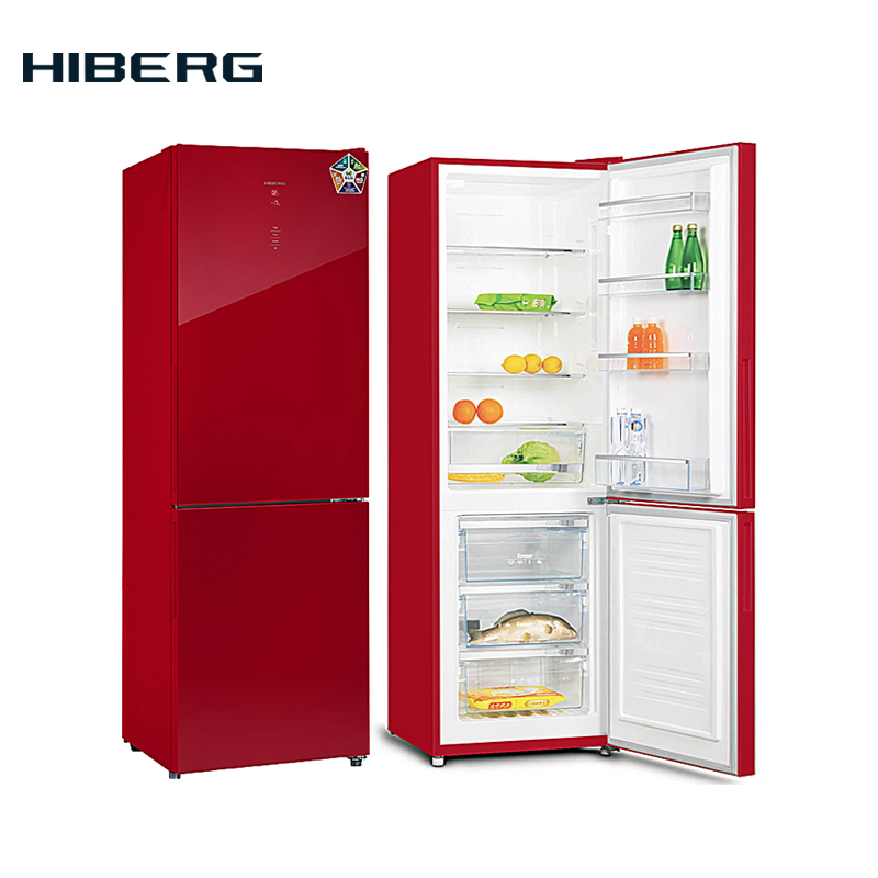 refrigerator with no frost system hiberg rfc 332d nfw NEW FRIGGE with glass door and NO FROST system HIBERG RFC-311NFGR/Y 5 colors