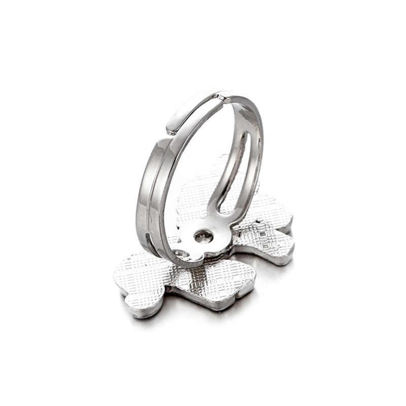 ยูนิคอร์นสีเปลี่ยนอารมณ์แหวนอารมณ์ความรู้สึกเปลี่ยนแหวนสำหรับสตรีอุณหภูมิควบคุมเปิดเคลือบ Bague Femme ของขวัญ