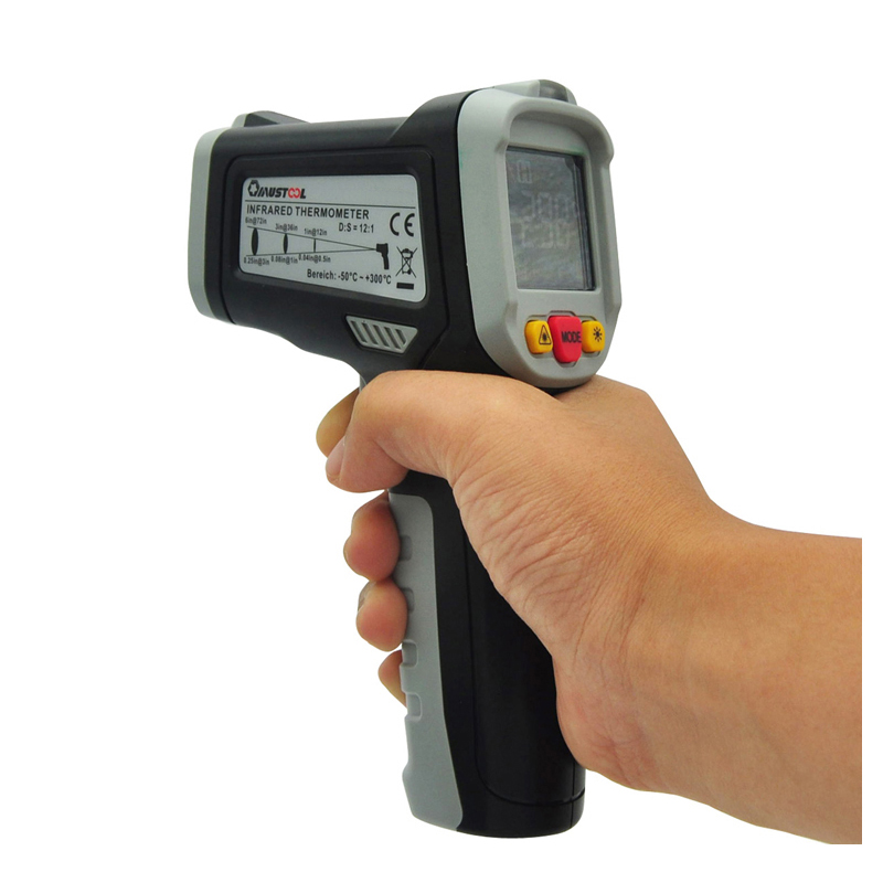MUSTOOL MT6550 Digital LCD Color Display Non contact Infrared Laser Themometer Temperature Tester