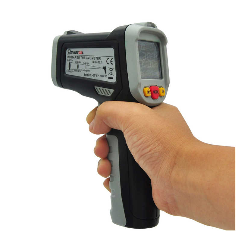 MUSTOOL MT6550 Digital LCD Color Display Non-contact Infrared Laser Themometer Temperature Tester