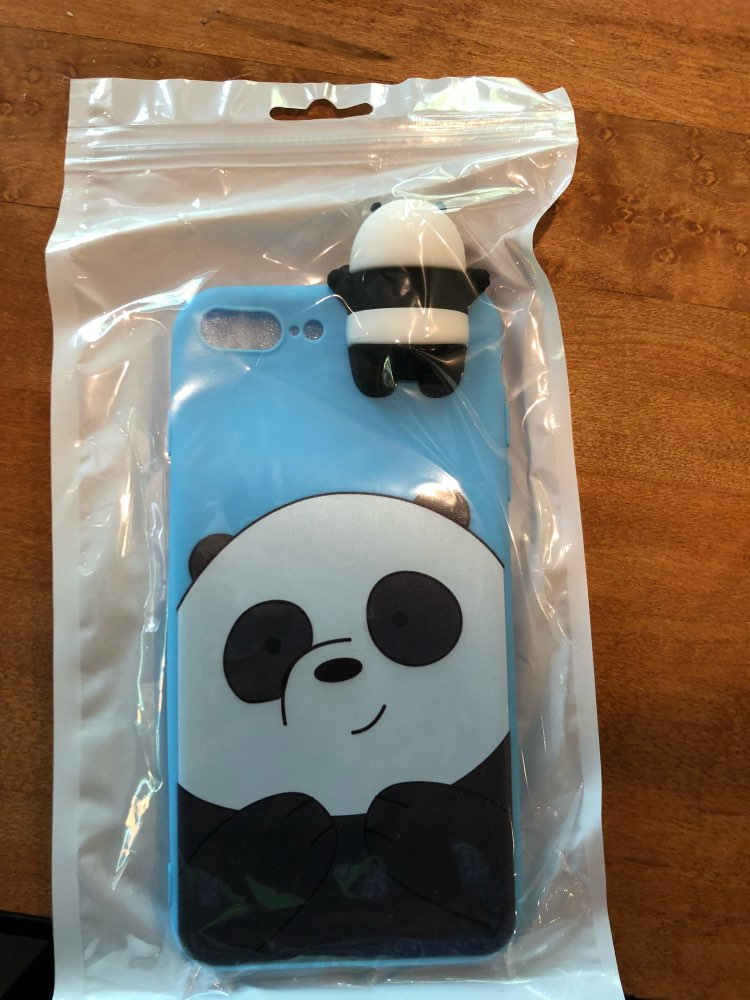 huge discount 9cd68 411c3 3D Cute We Bare Bears case for iphone 5 5s 6 6s 7 8 plus 10 X – Pink ...