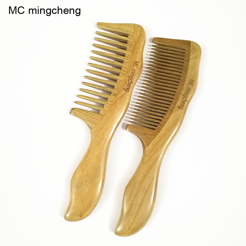 MC Brand 18cm Natural Sandalwood Comb Wooden Massage Combs Hair Styling Care Tools Hairdressing Supplies Wood Hair Brush 3-7