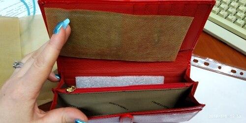 Vrouwen echt lederen portefeuilles, koeienhuid lederen tas, 7 kleur optioneel Vrouwelijke lange koppeling kaarthouder Gratis verzending photo review