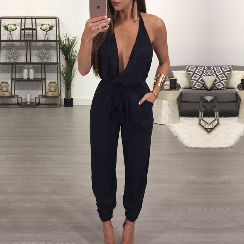 Jumpsuits Rompers 2018 New Sexy Hot women's condole hang