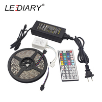 LEDIARY IP65 5050 5 M LED Bande 85-265 V Lumières Flexibles De Silice Gel 60LED/M Étanche Contrôleur RGB Décoration Led Ruban Bande