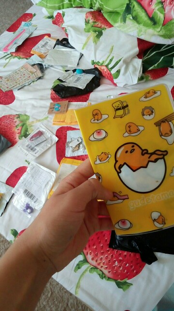 New Fashion Cartoon Gudetama Passport Cover Documents Bag Utility PVC Passport Hoders Girls Travel Pouch ID Card Package Case photo review