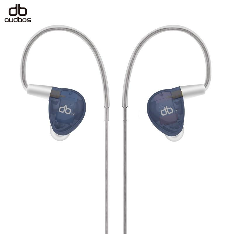 AUDBOS P4 4BA Balanced Armature Earphone In Ear HiFi Earphone MMCX Silver Plated Cable Audiophile Monitor Earphone audbos db04 hifi hybrid earphone 2ba 2dd silver plated metal earphone monitor earphone audiophile iem music earbuds