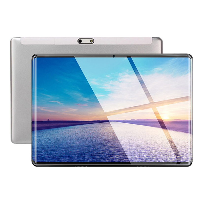 Silver 2.5D IPS Tablet PC 3G Android 9.0 Octa Core Google Play The Tablets 6GB RAM 64GB ROM WiFi GPS 10' Multi-touch Screen Pcs