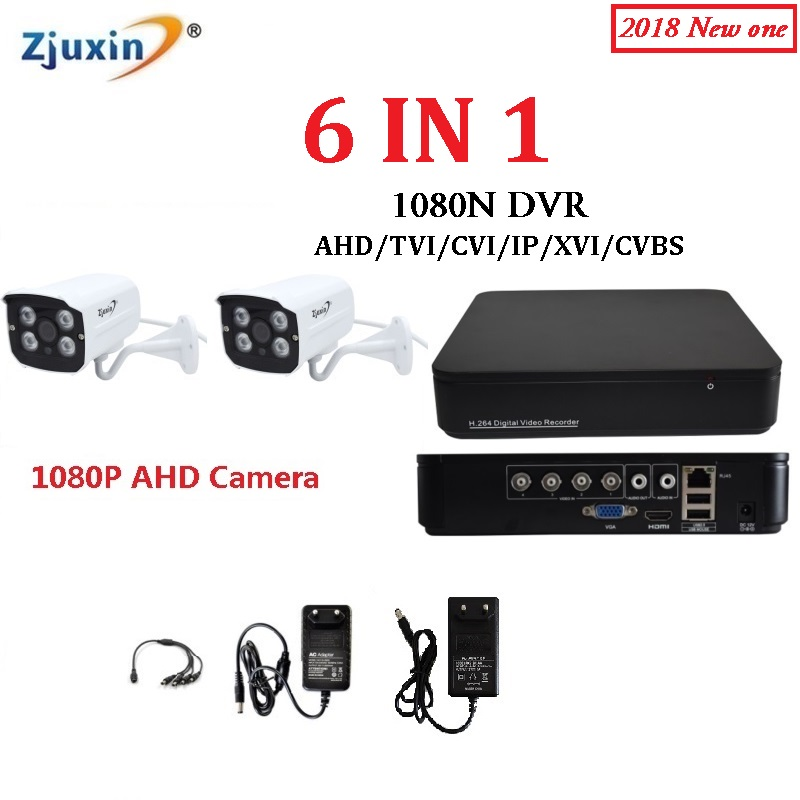 6IN1 4CH 1080N AHD DVR KIT 1080P METAL indoor and outdoor Security Camera USE 1080P 3.6MM Len 4pcs array led for AHD Cam Set sanwa button and joystick use in video game console with multi games 520 in 1