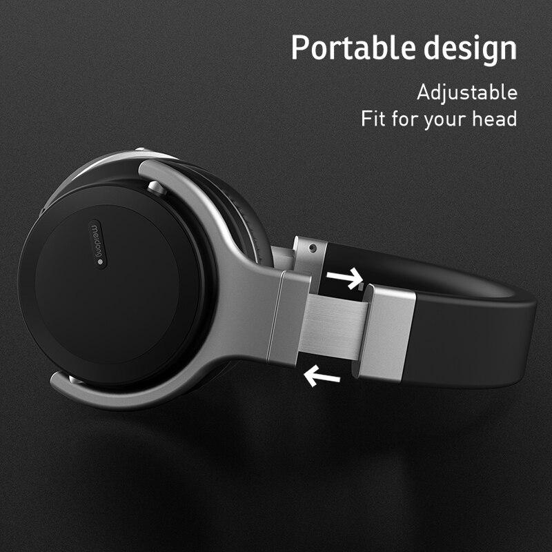 Meidong E7MD PRO casque Bluetooth actif suppression de bruit casque musique sans fil téléphone subwoofer casque-in Écouteurs et casques from Electronique    3