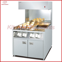 VF10 Commercial Electric Free Standing Chip Warmer Display Showcase