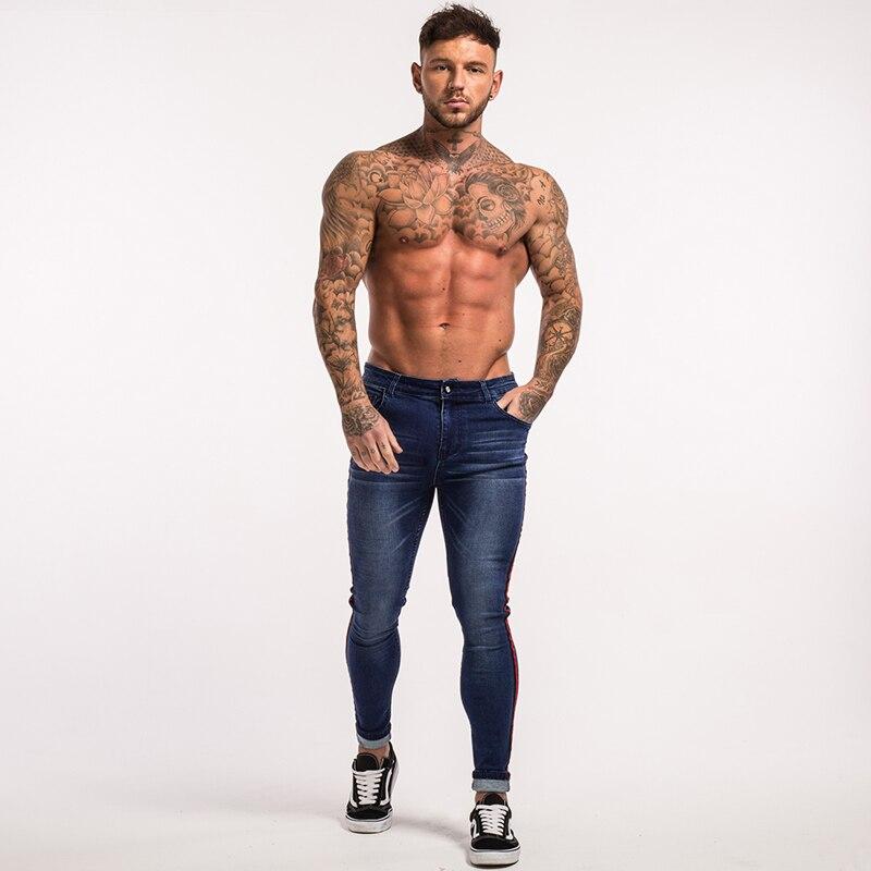 gingtto-men-skinny-jeans-dark-blue-red-stripe-stretch-jeans-zm20-8