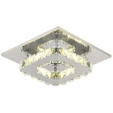 Modern LED Crystal Ceiling Light Fixture Crystal Lamp Crystal lustre Light fitting Aisle Hallway Staircase AC95-260V plafondlamp