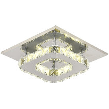 Modern LED Crystal Ceiling Light Fixture Crystal Lamp Crystal lustre Light fitting Aisle Hallway Staircase AC95-260V plafondlamp(China)