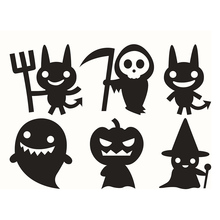 Wall Sticker Halloween Home Decor Vinyl Removable Art Wall Decal For Children Bedroom