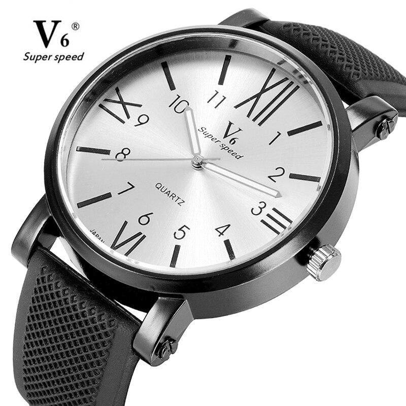 Fashion Men Sports Watches Quartz Wristwatch Analog Mens Top Brand Luxury Large Dial Rubber Strap Relogio Masculino Gifts