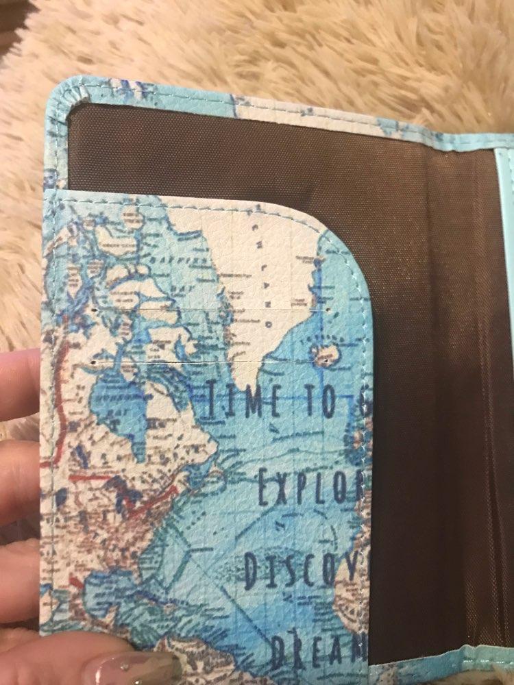 Flamingo Map Passport Covers Travel Accessories Creative PU Leather ID Bank Card Bag Men Women Passport Business Holder photo review