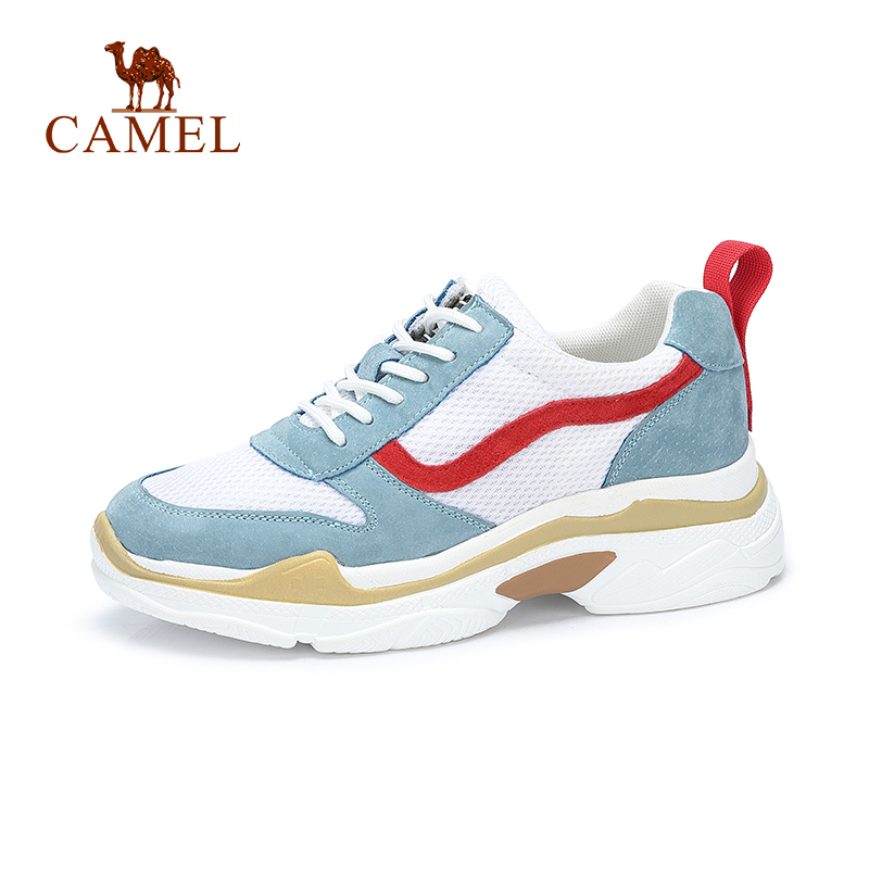 CAMEL Women Sneaker Casual Shoes Sport Walking Platform Classic Chunky Fashion Lightweight Breathable Outdoor Shock Absorption