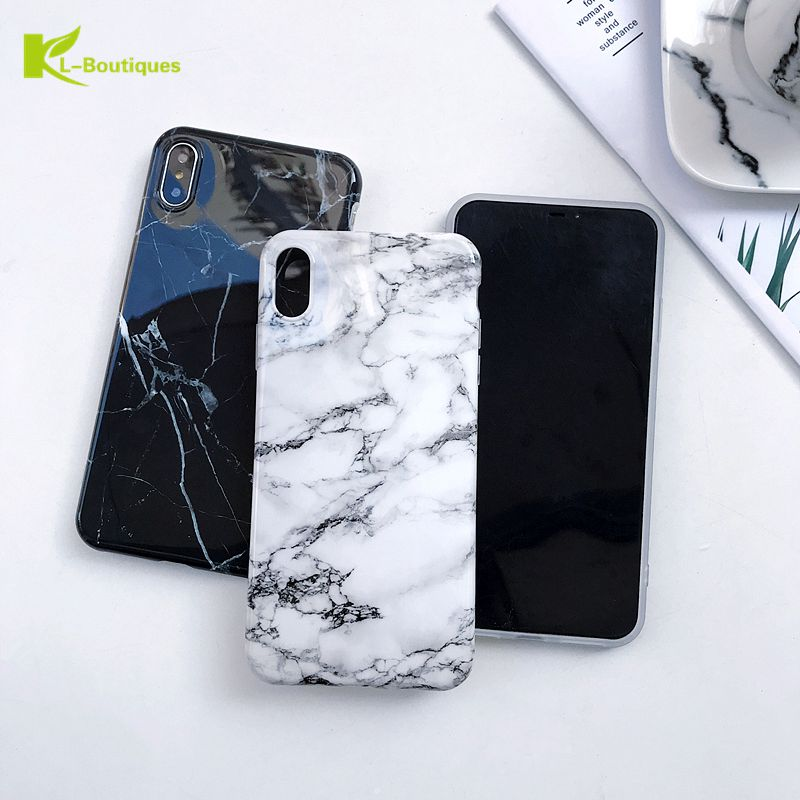A7 2018 Marble Case on For Coque Samsung Galaxy A7 2018 Case Etui Fashion Soft Phone Cover For Samsung A7 2018 A750 Case Cover