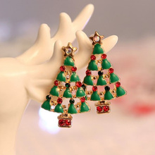 New Style Cute Christmas Earrings Santa Snowman Christmas Tree Bell Earring Holiday Gifts For Womens Ladys Fast Shipping