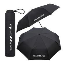 цена на 1pcs Umbrella For Audi Quattro A4 A5 A6 A7 A8 TT S4 S3 S5 S6 S7 S8 TTS Q3 Q5 7 A1 B5 B6 B8 C5 C6 RS RS4 RS5 RS6 Car Accessories