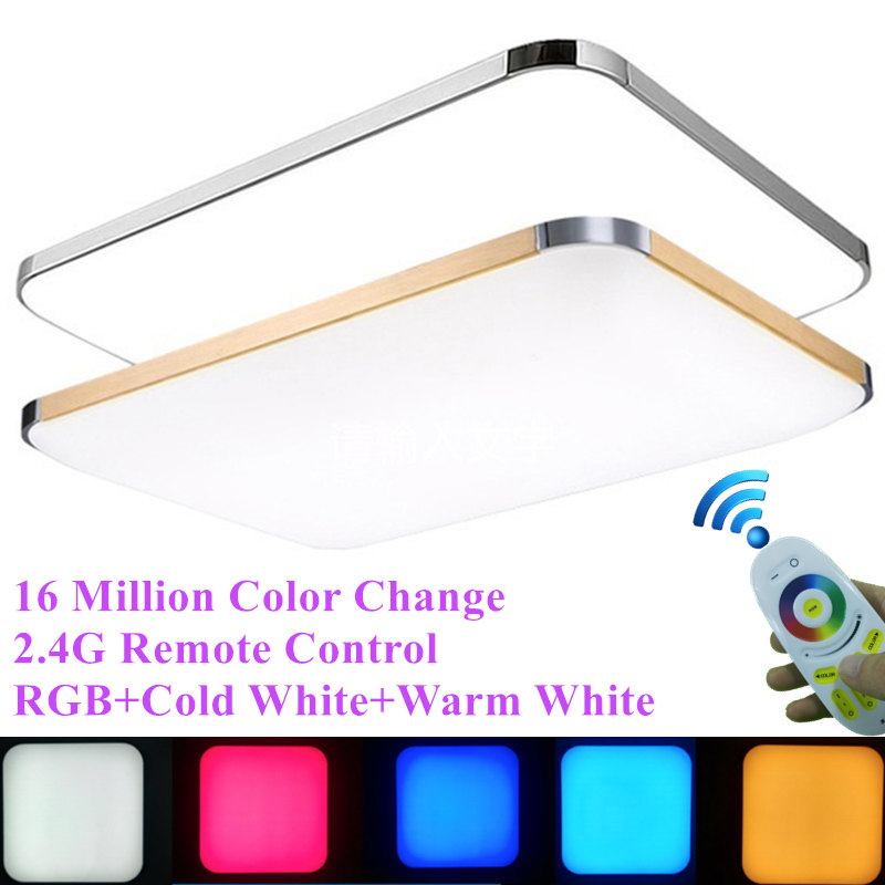 цена KINLAMS Living Room Colorful RGB+Cold White+Warm White 2.4G RF Remote Control LED Ceiling Light Dimmable Smart Ceiling Lamp