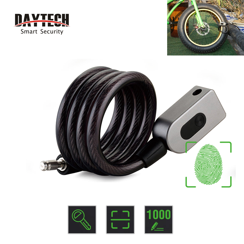 DAYTECH Fingerprint Door Lock Anti Theft Bike Lock for Bicycle Motorcycle IP65 Waterproof
