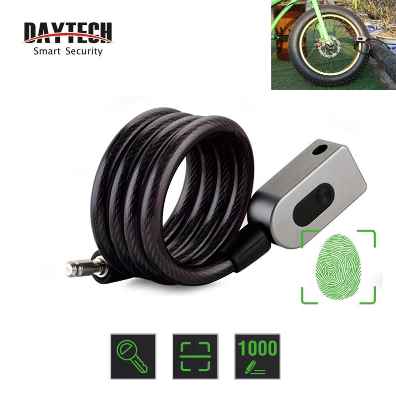 DAYTECH Fingerprint Door Lock Anti-Theft Bike Lock for Bicycle/Motorcycle IP65 Waterproof