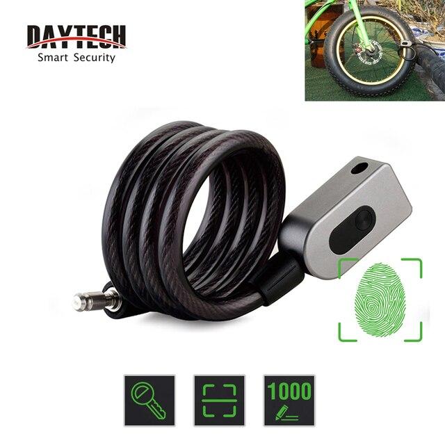 Daytech 指紋ドアロック盗難防止バイクロック自転車/オートバイ IP65 防水 (L06)