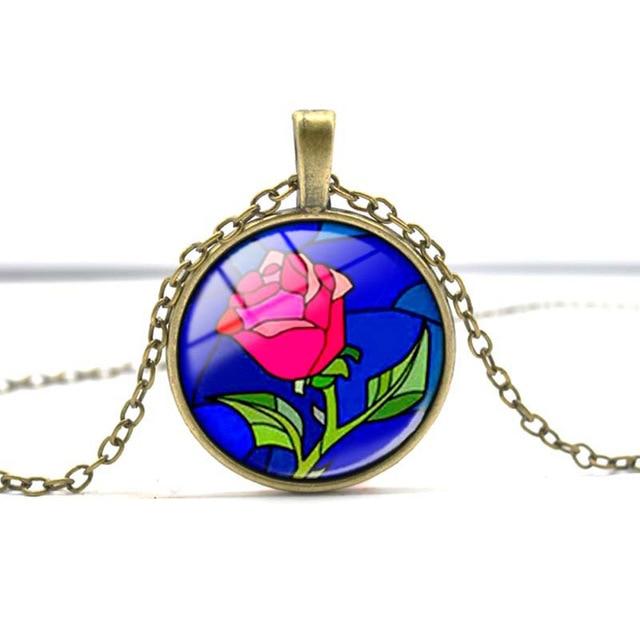 Aliexpress buy wholesale glass picture pendant necklace rose wholesale glass picture pendant necklace rose glass pendant art pendant for necklace aloadofball Gallery