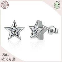 Gute Qualität Neueste Ankunft Nicht Überzogen Vintage 100% 925 Sterling Silber Mini Stern Bolzenohrrings