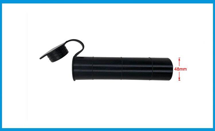 4 2018 new Black color 0 degree Fishing Rod holder Inner Sleeve Rod Pod Rubber Cap Tube Liner