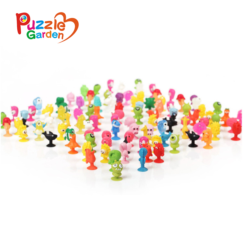 100Pcs/Set PVC Dolls Sukers Cupule kids Cartoon Ocean Animal Action Figure Toys Sucker Mini Suction Cup Collector Capsule models lps pet shop toys rare black little cat blue eyes animal models patrulla canina action figures kids toys gift cat free shipping