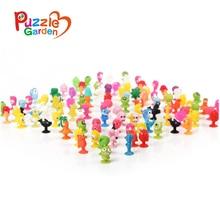 100Pcs/Set PVC Dolls Sukers Cupule kids Cartoon Ocean Animal Action Figure Toys Sucker Mini Suction Cup Collector Capsule models