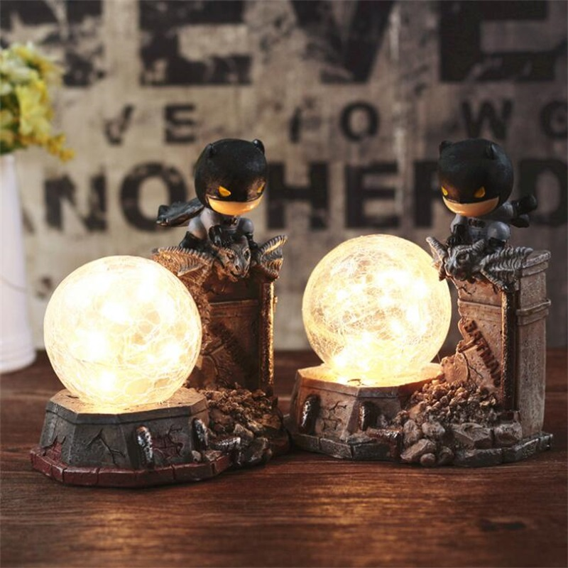 все цены на Q version of Batman Creative Table Lamp LED Bedroom Decorative Lighting Kid Holiday Derication Gifts Night Light New Products онлайн