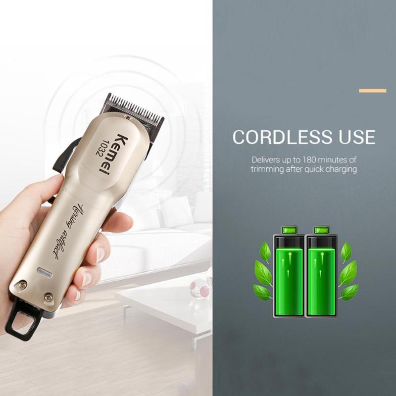 110 v-240 v Turbo recarregável hair clipper professional trimmer de cabelo para homens máquina de corte de cabelo cortador de cabelo elétrico 5