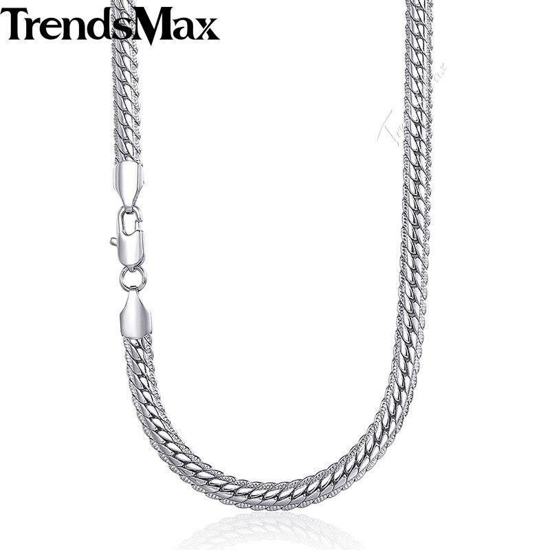 Trendsmax Muška ogrlica zlatna zmija Link lanac ogrlica za muškarce - Modni nakit - Foto 6