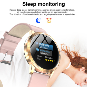 "Image 4 - SCOMAS New Fashion CF18 Smart Watch 1.22""IPS Tempered Glass Heart Rate Blood Pressure Monitor Multi Sport Women Band Smartwatch"