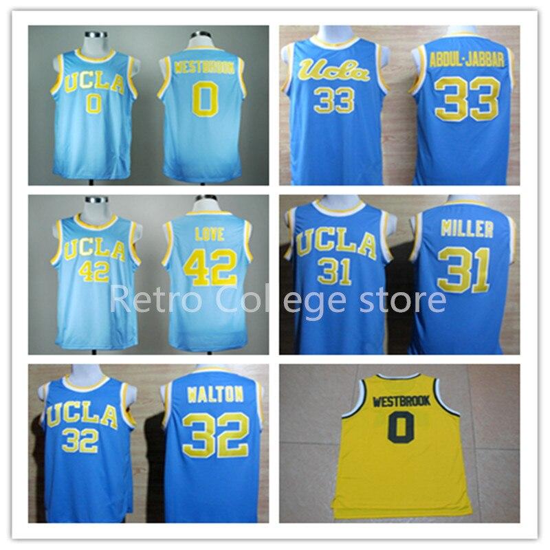 853337395785 42 Kevin Love Shirt 33 Kareem Abdul Jabbar 0 Russell Westbrook 2 lonzo Mens UCLA  Bruins NO.33 ABDUL-JABBAR Basketball ...