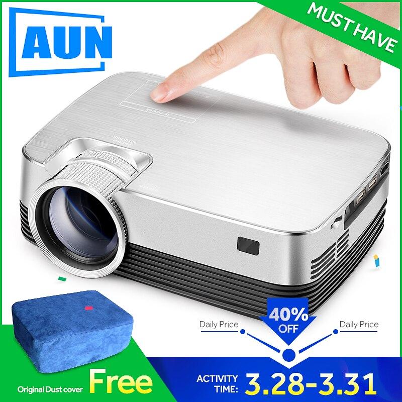 AUN projecteur android Q6. Ensemble en WIFI, Bluetooth. 1280x720 Pixel, HD mini projecteur, Vidéo-Projecteur. Soutien 1080 P, USB, HD sortie